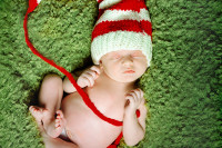 leesburg va newborn baby portrait at christmas