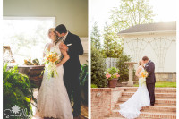 bride and groom at historic mcfarland house