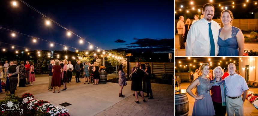 outdoor cocktail hour reception wedding