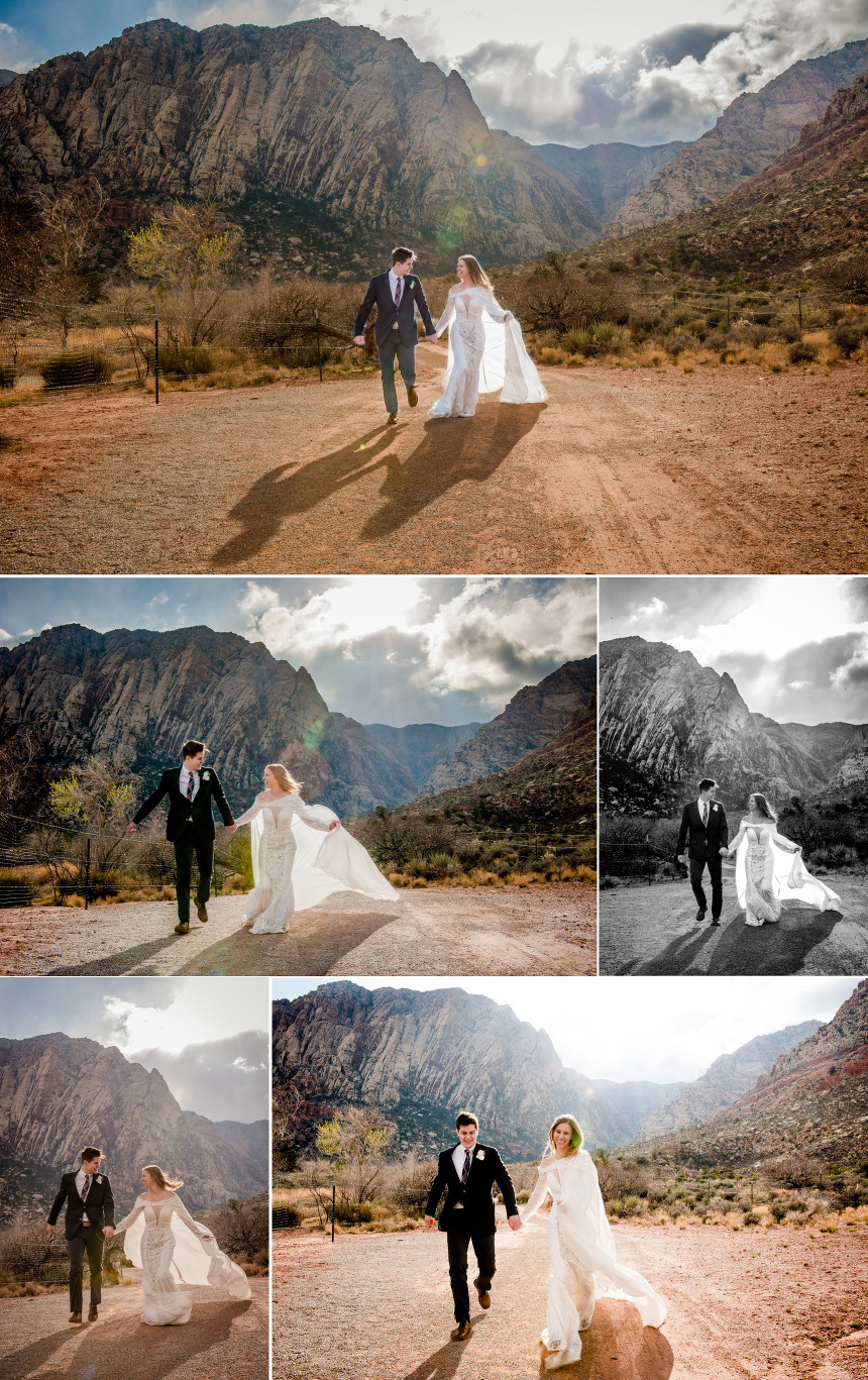 las vegas wedding photographer bride groom portraits
