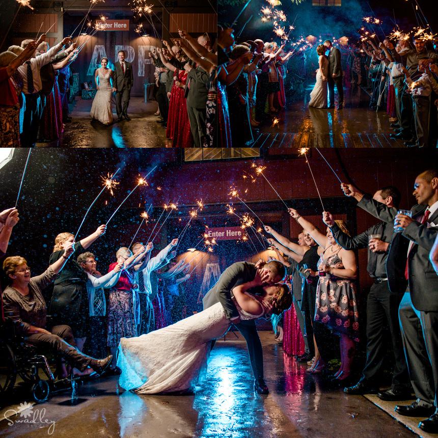 bold rock cidery sparkler exit wedding